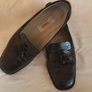 Talbots crocodile tassel shoes